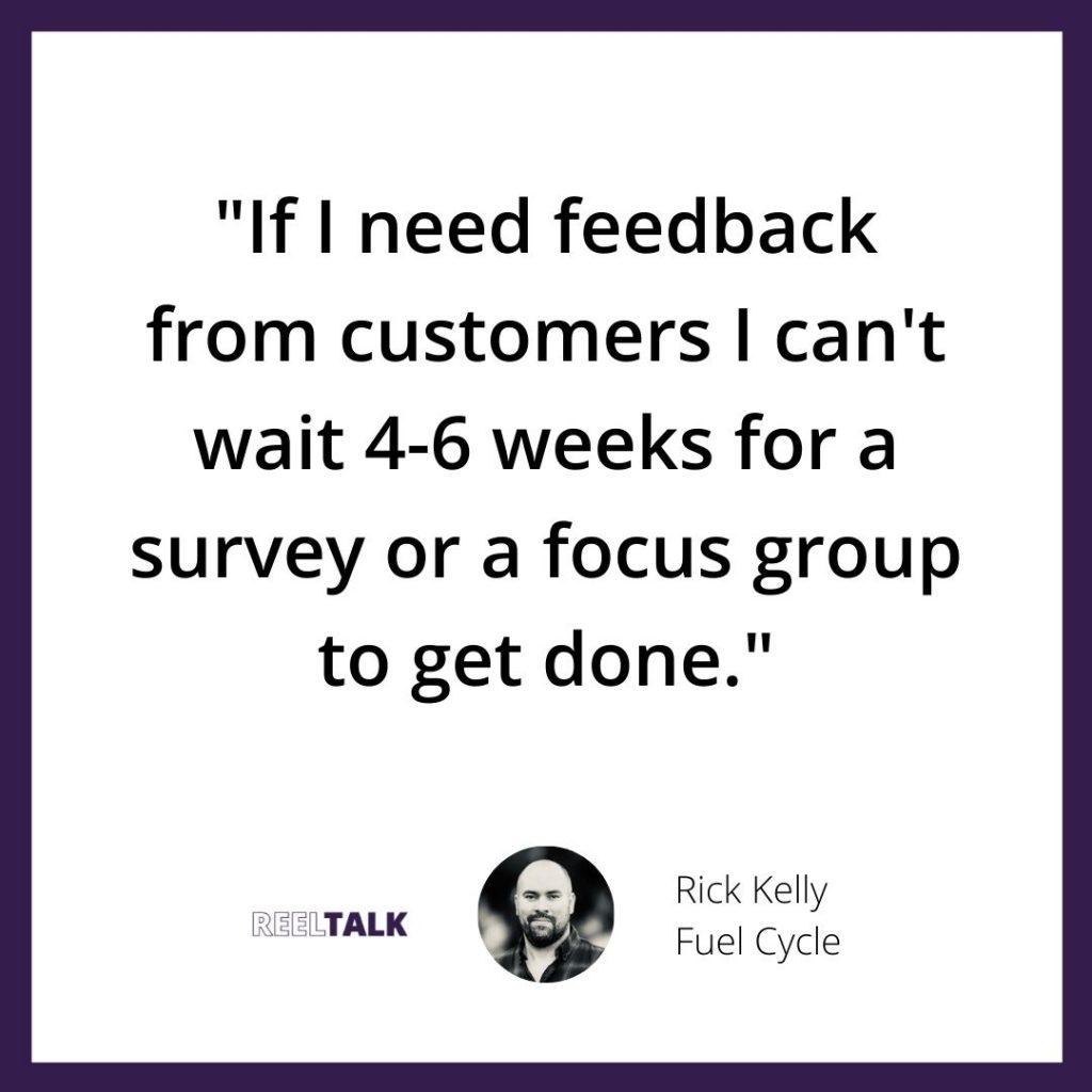 Rick Kelly market research technology speed