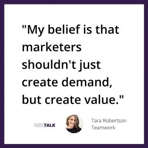 """""""My belief is that marketers shouldn't just create demand, but create value"""""""